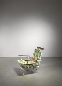 Rare Minimal Wrought Iron Lounge Chair - 1449990