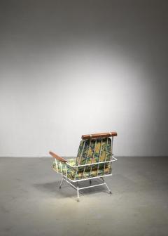 Rare Minimal Wrought Iron Lounge Chair - 1449991