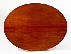 Rare Oval Carved Mahogany Library Table - 384422