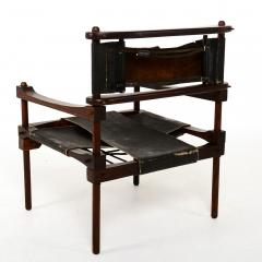 Rare PERNO Chair Distressed Leather Safari Lounge by Don Shoemaker - 1355597