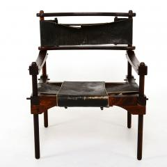 Rare PERNO Chair Distressed Leather Safari Lounge by Don Shoemaker - 1355599