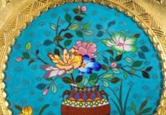 Rare Pair of French Japonisme Bronze Cloisonne Enamel Trays Attributed Lievre - 805955