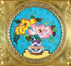 Rare Pair of French Japonisme Bronze Cloisonne Enamel Trays Attributed Lievre - 805958