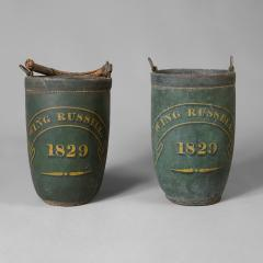 Rare Pair of Leather Fire Buckets - 87378
