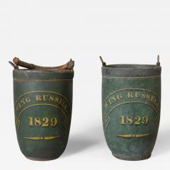 Rare Pair of Leather Fire Buckets - 90754