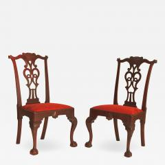 Rare Pair of Mahogany Chippendale Side Chairs - 1017607