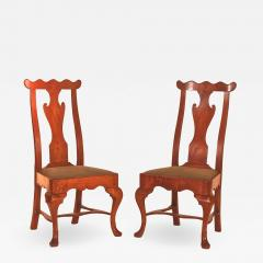 Rare Pair of Maple Queen Anne Side Chairs - 1023952