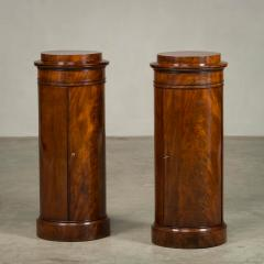 Rare Pair of Round Late Empire Pedestal Cabinets - 910629