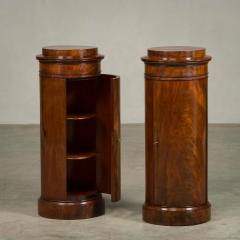 Rare Pair of Round Late Empire Pedestal Cabinets - 910630