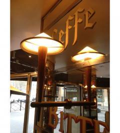 Rare Pair of Torcheres Sconces from Caf Francais Paris 1970 - 778398
