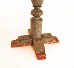 Rare Pine Cross Base Candle Stand - 1041655