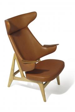Rare Scandinavian Ox Lounge Chair in Saddle Leather - 1264839
