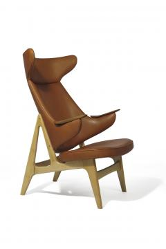 Rare Scandinavian Ox Lounge Chair in Saddle Leather - 1264840