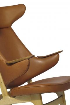 Rare Scandinavian Ox Lounge Chair in Saddle Leather - 1264841