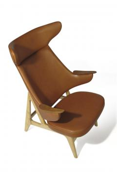 Rare Scandinavian Ox Lounge Chair in Saddle Leather - 1264842