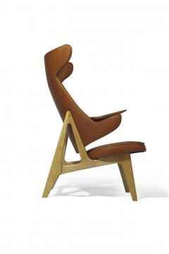Rare Scandinavian Ox Lounge Chair in Saddle Leather - 1264844