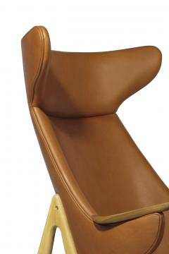 Rare Scandinavian Ox Lounge Chair in Saddle Leather - 1264845