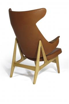 Rare Scandinavian Ox Lounge Chair in Saddle Leather - 1264846
