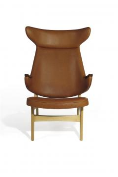 Rare Scandinavian Ox Lounge Chair in Saddle Leather - 1264847