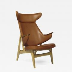 Rare Scandinavian Ox Lounge Chair in Saddle Leather - 1265042