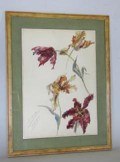 Rare Set of Floral Watercolors by Accard - 519601