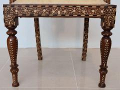 Rare Set of Four Anglo Indian Hardwood and Bone Inlaid Armchairs - 390505