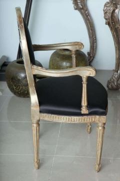 Rare Set of Four Italian Neoclassic Silver Gilt Armchairs - 403428