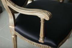 Rare Set of Four Italian Neoclassic Silver Gilt Armchairs - 403429