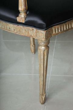 Rare Set of Four Italian Neoclassic Silver Gilt Armchairs - 403430