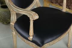 Rare Set of Four Italian Neoclassic Silver Gilt Armchairs - 403433