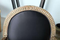 Rare Set of Four Italian Neoclassic Silver Gilt Armchairs - 403435