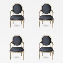 Rare Set of Four Italian Neoclassic Silver Gilt Armchairs - 410130