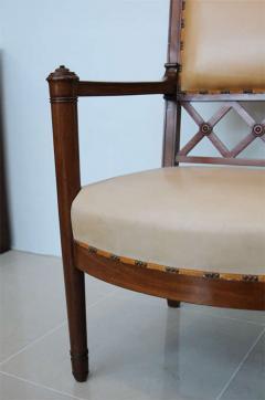 Rare Set of four Consulat Mahogany Armchairs France - 398436