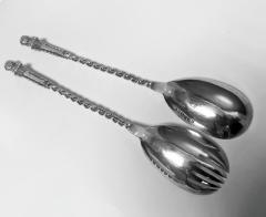 Rare Sir Walter Raleigh Antique Silver Servers Newcastle 1882 Christian Reid - 1201105