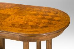 Rare Swedish Jugendstil Oval Satin Birch Table - 369254