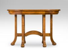 Rare Swedish Jugendstil Oval Satin Birch Table - 369255