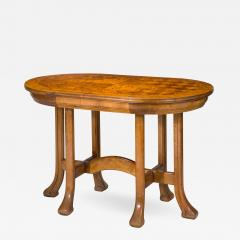 Rare Swedish Jugendstil Oval Satin Birch Table - 370387