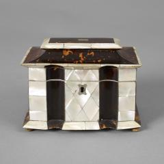 Rare Tortoise Shell and Mother of Pearl Tea Caddy - 225242