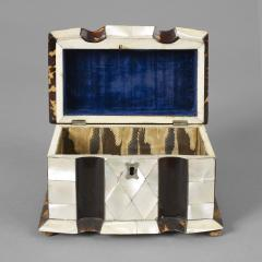 Rare Tortoise Shell and Mother of Pearl Tea Caddy - 225243