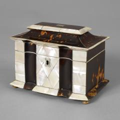 Rare Tortoise Shell and Mother of Pearl Tea Caddy - 225245