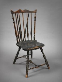 Rare Windsor Brace Back Side Chair Connecticut Circa 1760 - 155843