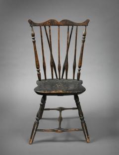 Rare Windsor Brace Back Side Chair Connecticut Circa 1760 - 155844