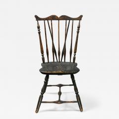 Rare Windsor Brace Back Side Chair Connecticut Circa 1760 - 156120
