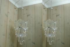 Rare and Attractive Pair of Mid Century Lucite Chandeliers - 483597