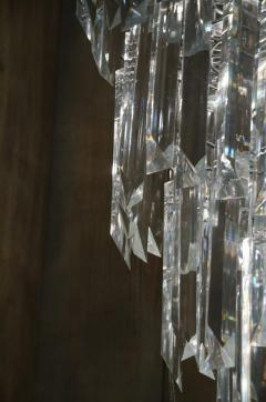 Rare and Attractive Pair of Mid Century Lucite Chandeliers - 483601