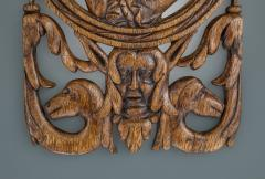 Rare and Interesting 16th Century Carved and Pierced Oak Portrait Panel - 1655641