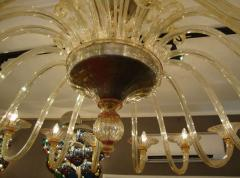 Rare large 1970 Murano blown glass chandelier - 904436