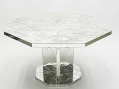 Rare mirror mosaic dining table signed by Eugene C 1980s - 1081937