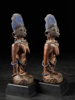 Rare pair of very old Yoruba Ibeji Figures - 1981181