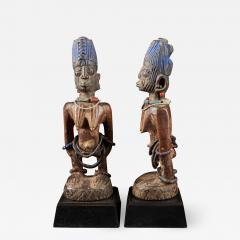 Rare pair of very old Yoruba Ibeji Figures - 1985914